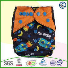 2015new happy flute one size fit all bamboo charcoal all in one diaper nappy