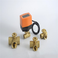 CE light weight electric 24volt 3-way mini motorized valve