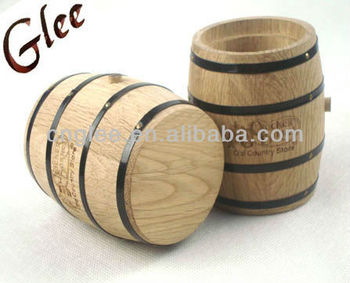cheap special decorative small wooden barrel with customized logo