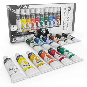 Wholesale Watercolor Artist Oil Acrylic Paint On Wood With 12colors 12ml Acrylic Paint For Face Leather