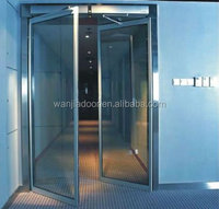 Aluminum frosted glass interior french doors