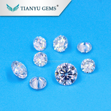 Bulk Wholesale 0.1ct 3mm Forever brilliant Synthetic Loose GH color White Moissanite