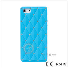 Newest Round shiny diamond Silicone case for Phone 5