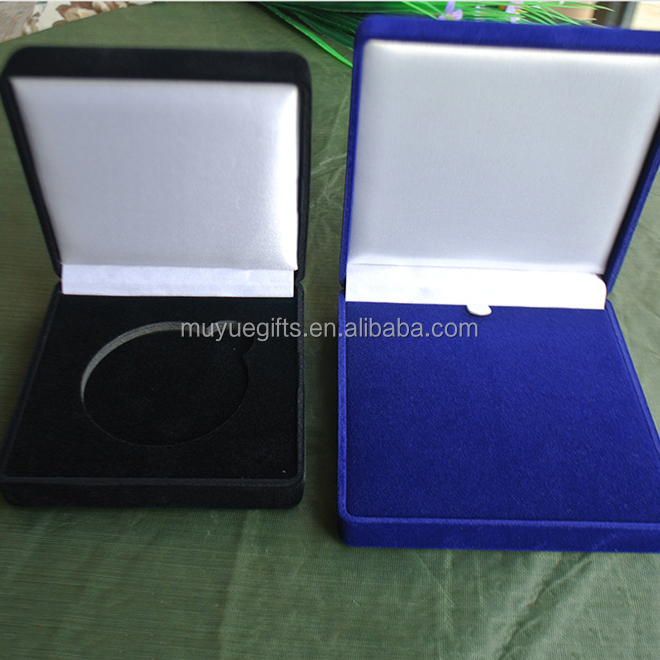 Custom velvet commemorate coin box for coin display