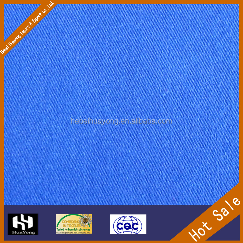 blue twill fabric wholesale tc 100 cotton 100 polyester fabric cheap sale