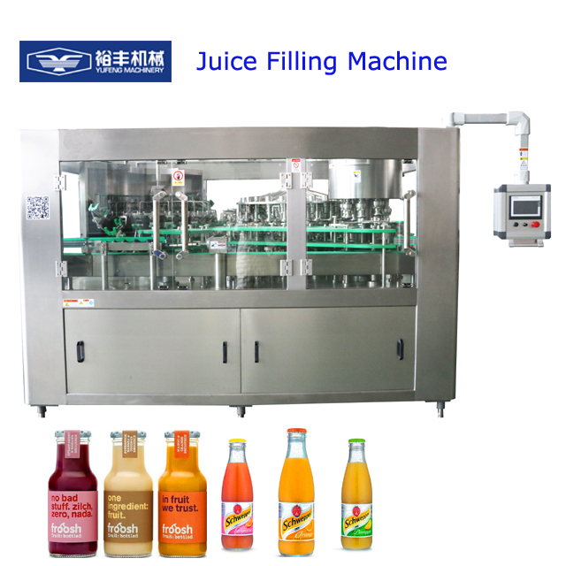 PET plastic bottle automatic hot packing beverage juice filling machine