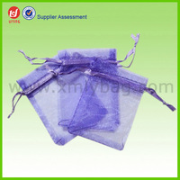 Small Violet Mesh Net Gift Sheer Bag