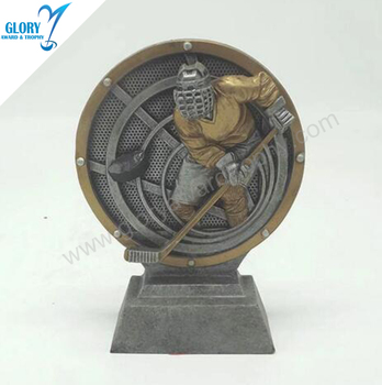 Plaque Resin Trophy Of Ice Hockey Puck Award