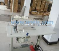 assembling machine for hair weft