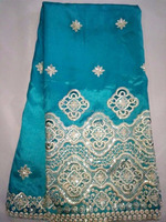african george lace comfortable tur blue lace fabric in george