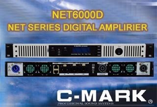 Professional DSP Networkable Digital Amplifier - C-Mark NET6000D