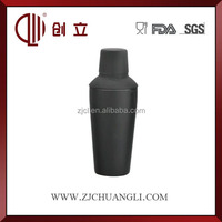 750ml black rubber color large stainless steel cocktail shaker