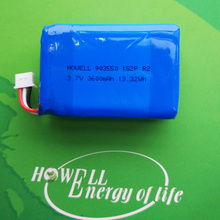 903550 High capacity lithium polymer 3.7v 3600mah battery for power bank