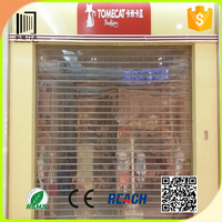 Electric commercial interior decorative vision roller shutter
