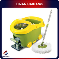 China manufacturer OEM multi-purpose cleaning floor mops, Hand pressure stamped on the rotating the mop bucket,