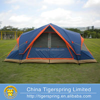 Fiberglass pole leisure camping tent 6 person