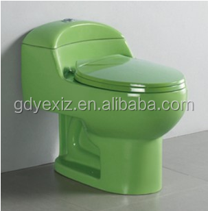 A3112 new style of 2016 western green colored design siphonic toilet