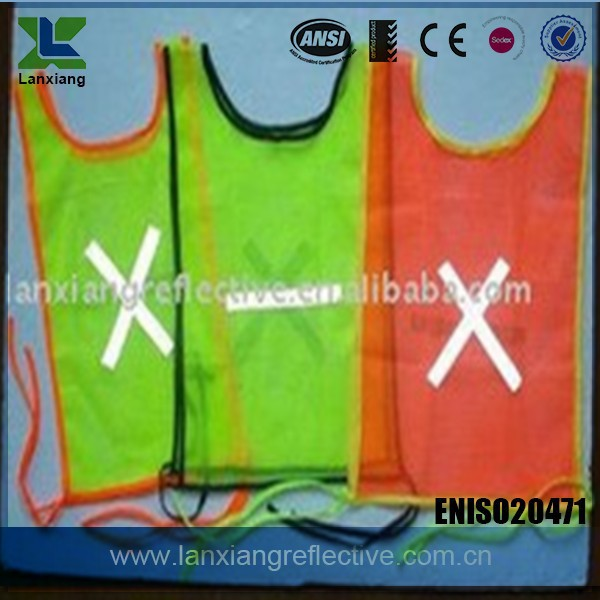 LX642 best price reflective safety hi vis vests with pockets