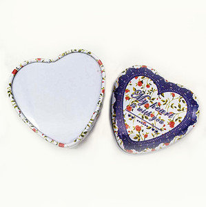 hot sale Childlike little heart candy or chocolate packing tin box for gift package