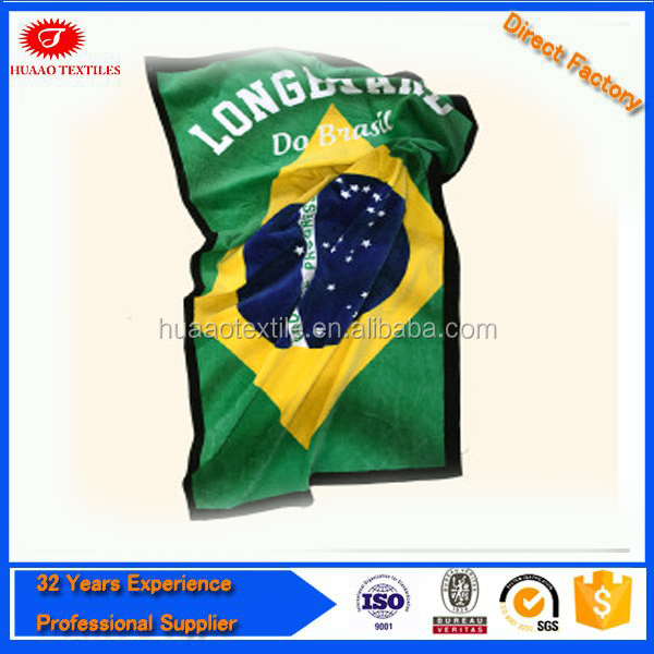 High Quality Brazil Flag Beach Towel