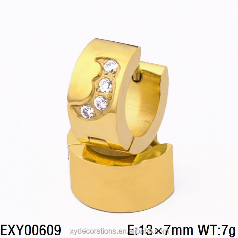 Wholesale Unique Gold Filled High Quality Zinc Alloy Hoop Earrings for Men and Women