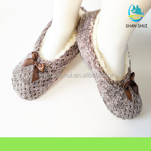 latest modern plush home slipper/indoor shoes