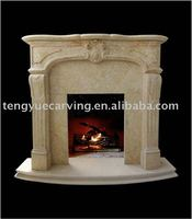 white marble indoor decoration fireplace mantel