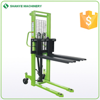 1T 2T Hydraulic Manual stacker,material handling equipment with ShanYE brand manual stacker