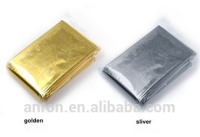 First aid emergency blanket manufacturers supply aluminum film of gold and silver double color 140 cmx210cm specifications