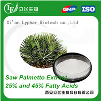 25% and 45% Fatty Acid Saw Palmetto Extract Powder