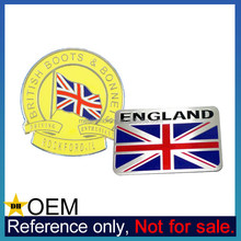 Wholesale Custom High Quality Cheap UK Union Jack Flag Car Emblems Badge