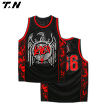 Latest best all over sublimation basketball jersey