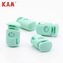 Hot-sale quality light green colorful custom cord lock shoelace plastic rope stopper for garment clothing sports bag jacket