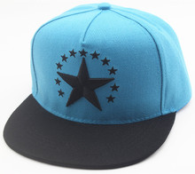 Unisex Men Women Caps Embroidery five-pointed star Flat Snapback Hats Caps Wholesales