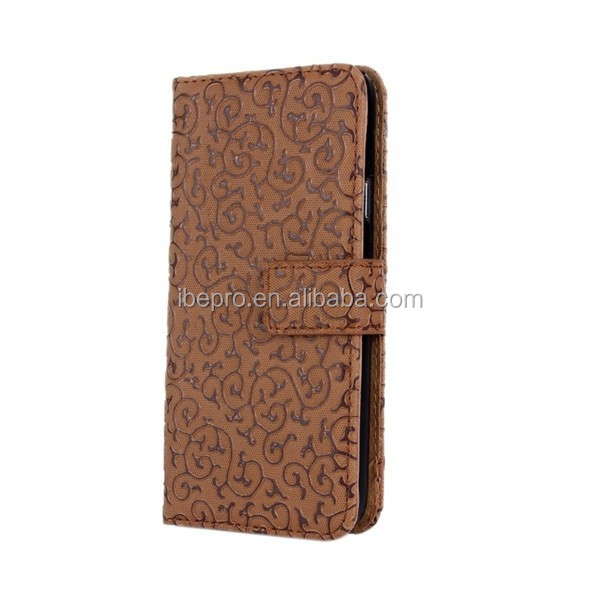 Hot New Products for 2015, Royal Court Flower Wallet PU Leather Phone Case Cover for Samsung Galaxy S5