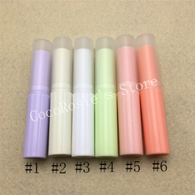 Quality korea cosmetic packaging empty lipstick tube plastic mini lip balm tube