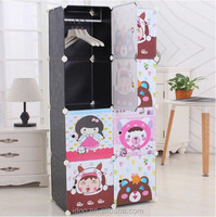 Room wardrobe design wardrobe with new cartoon designs FH-AL0029-8