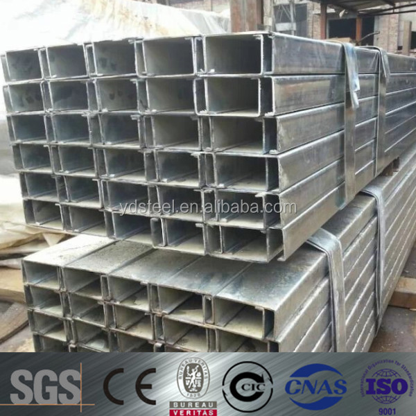 high quality channel iron standard sizes from china