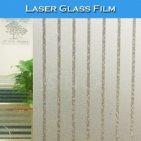 G008 Removable Glue Protective Window Decoration Laser Glass Film