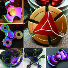 Rainbow hand spinnner top metal fidget spinner ce custom logo spinner metal alloy fidget spinner