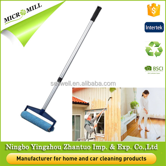 Carpet cleaning brush high quality multipurpose microfiber wall paint roller brush with expansion handle