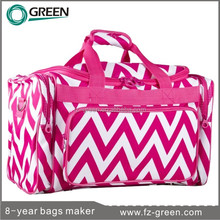 Pink Gym travel bags with shoes laptop compartment