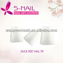 500 White Duck Nail Tips Wide False Nail Tips Acrylic Nail