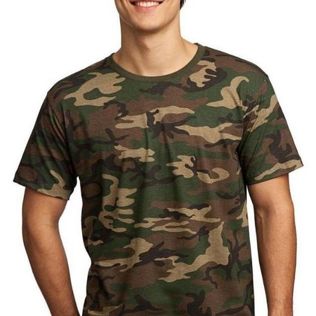Army Uniform Men's Military Camo Crew neck blank camo t shirts mens