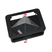 Hot selling DIY 3D screen player pyramid box mini holographic projector for smartphone