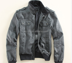 European fashion mens windbreaker jacket anorak jacket men leather jackets motorcycle
