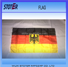 Promotional custom size black yellow red flags