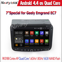 Quad core Android 4.4.4 car dvd player for Geely EC7 with GPS radio BT WIFI 1GB RAM 16GB ROM mirror link