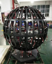 p3 Round shape LED Display/ LED Display Ball /LED Sphere Display 360 degree acrylic hangling led video display ball