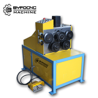 BYFO brand duct work carbon steel sheet electric angle rolling machine,sheet metal/metal plate electric angle bending machine